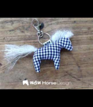 """N&N Horse Design Schlüsselanhänger, """"Karlchen"""", Bliue Vichy"""