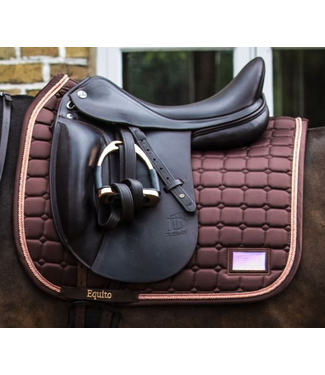 Equito Saddle Pad - Roasted Coffee Rose Gold VS