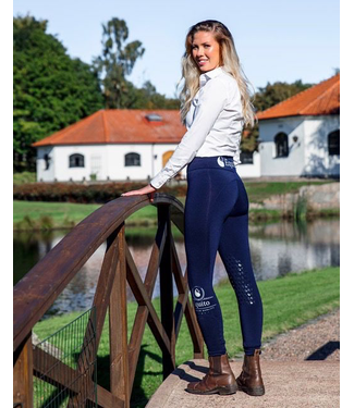 Equito Technical Leggings - Navy Silver - Full Seat