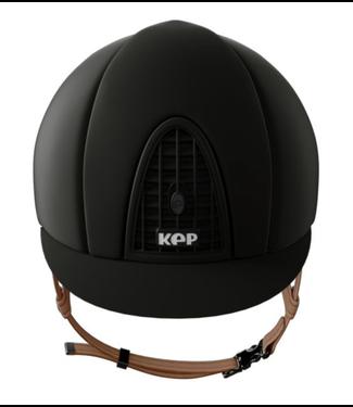KEP Chromo mat black + Beige Chinstraps