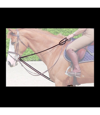 Dy'on Working Leather Draw reins  Black Cob