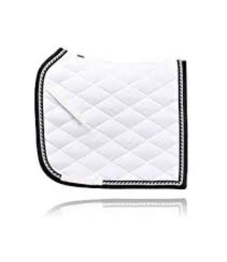 SD Classic Saddle Pad in White & Smoked Topaz