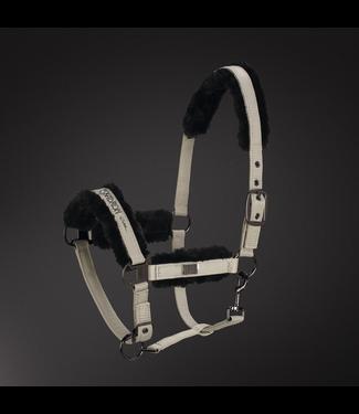 Eskadron Headcollar Platinum GLOSSY FAUX FUR -limited edition-