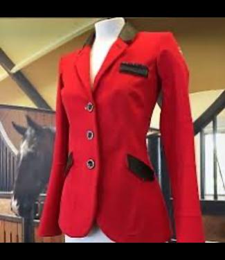 HorsePilot Veste Tailor Made Femme, Red/Black Leather
