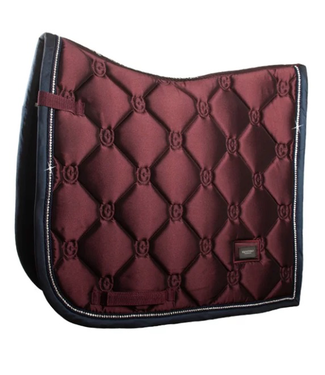 Equestrian Stockholm Dressage Saddle Pad Merlot Crystal
