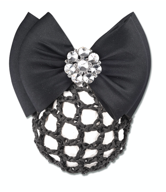 Waldhausen BUN NET WITH DECORATIVE BOW AND CLASP Black
