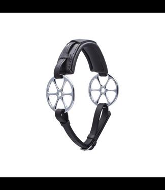 Stübben Steeltec Flower ring leather, cheeks stainless steel