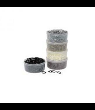 Göbel Manenelastiekjes silicone in Box Zwart