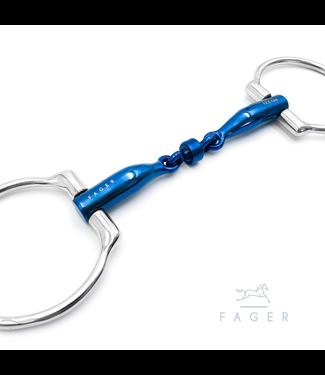 Fager Titanium Roller Eggbutts bit - BIANCA