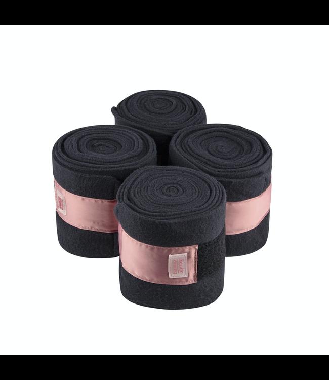 Equito Fleece bandages – black old rose