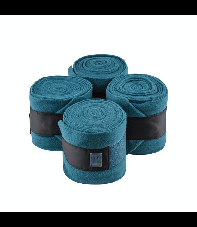 Equito Fleece bandages – teal black