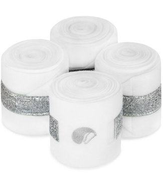 Equito Fleece bandages – white silver