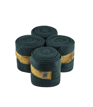 Equito Fleece bandages – green gold