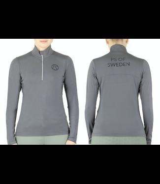 Ps Of Sweden Poloshirt, Cornelia, Charcoal