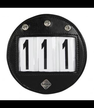 Le Mieux Round Bridle Number Holder Diamante Black