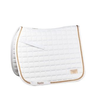 Equito Saddle pad – Pure white Rose Gold