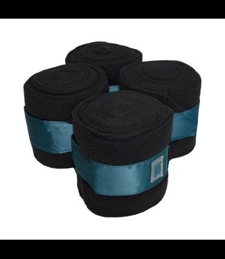 Equito Fleece bandages - Black Teal