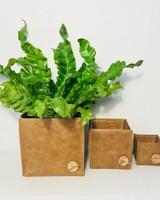 Tutti Concepts Set 3  leren plantenpotten