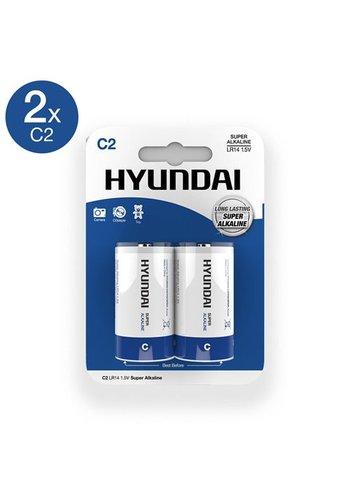 Hyundai Super Alkaline C-Batterijen - 2 Stuks