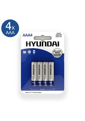 Hyundai Super Alkaline AAA-Batterijen - 4 Stuks