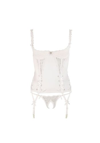 Cottelli Collection Bruids Corset 1/4 Cup - Wit