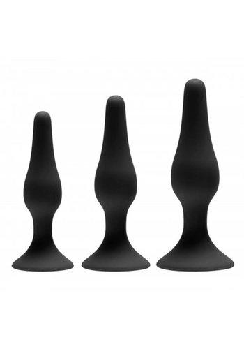 GreyGasms Siliconen anaal trainer set - 3 stuks
