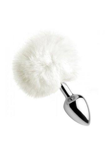 Tailz White Fluffy Bunny Tail Buttplug