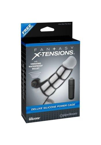 Fantasy X-tensions Siliconen power peniskooi met vibratie