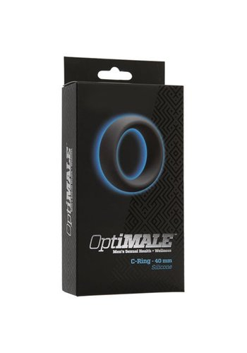 OptiMALE Cockring grijs siliconen - 40mm