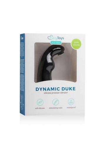 Easytoys Men Only Dynamic Duke Geribbelde Prostaat Vibrator - Zwart