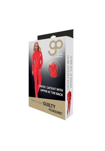 Guilty Pleasure GP Datex Catsuit Met Rits - Rood