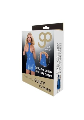 Guilty Pleasure GP Datex Halterjurk Met Open Cups - Blauw