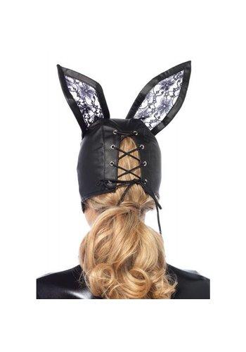 Leg Avenue Kunstleren Bunny Masker - Zwart