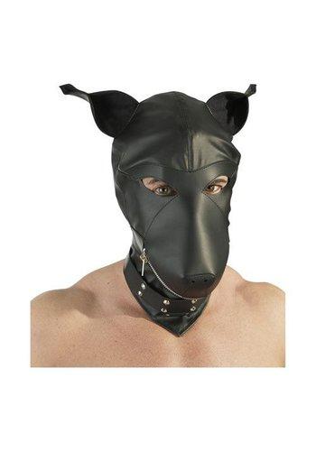 Fetish Collection Hondenmasker met Nekband