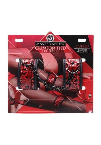 Crimson Tied Zwart met rode enkel boeien