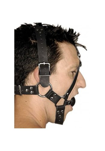 Strict Leather Leren Ball Gag Hoofdharnas