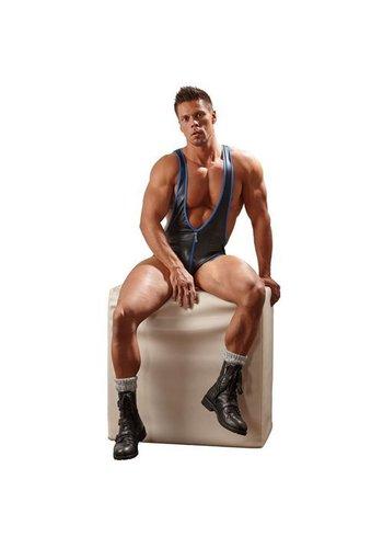 Svenjoyment Underwear Mannen Body - Zwart/Blauw