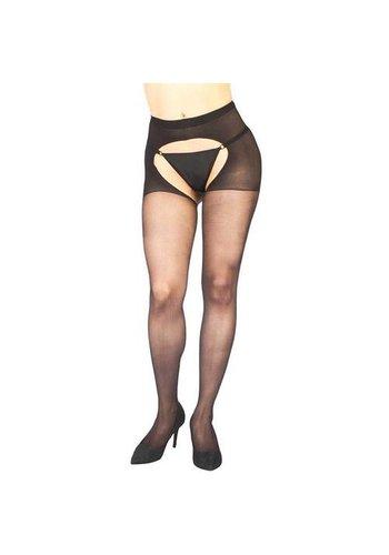 Vixson Visxon Open Kruis Panty - Zwart