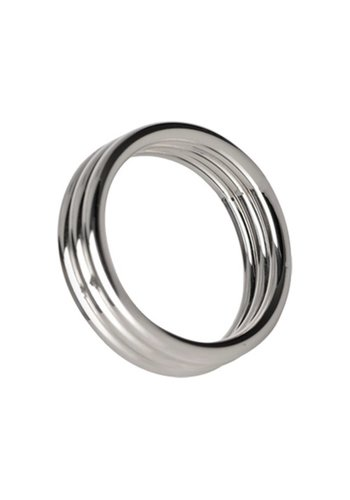 Master Series Echo 4.5 cm Stainless Steel Triple Cock Ring