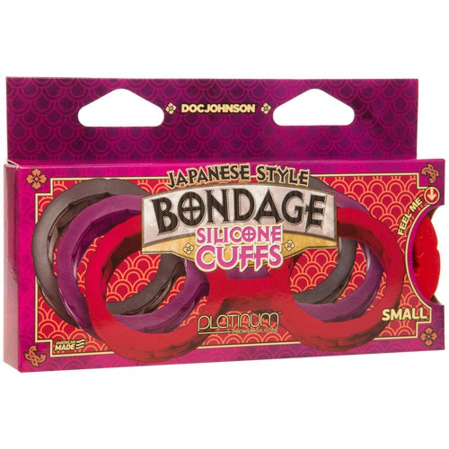 Japanese Bondage Siliconen Handboeien - Rood