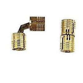 Cylinder scharnier messing 16 mm á 2 st