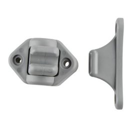 Deurvanger 9 mm onderplaat scharnierend grijs