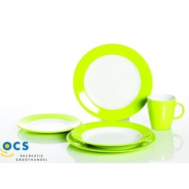 Gimex Dinerset Rainbow Lime 16 delg.
