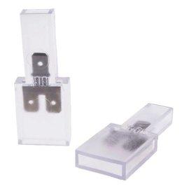 Doorverbindconnector 1/2 polig 6.3 x 0.8 mm