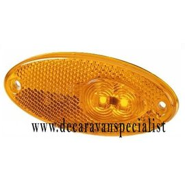 Hella Zijreflectielamp inbouw oranje