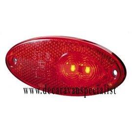 Hella Breedtelamp LED ovaal rood