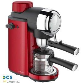Via Mondo Via Mondo Espressomachine 4-kops Vrolijk Rood