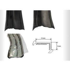 Onderlegrubber zwart 19 mm o.a Wilk rol 45 meter