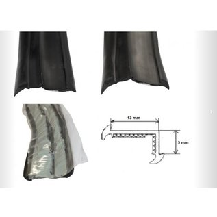 Onderlegrubber zwart 19 mm
