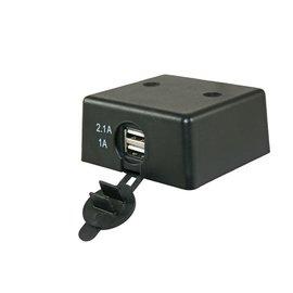 12 V USB lader opbouw met deksel